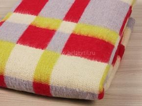 Одеяло п/шерсть 40% 140*205  Клетка цветная