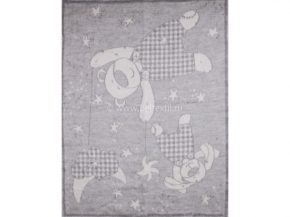 Одеяло п/шерсть 70% 100*140 жаккард  цв. серый