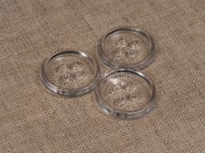 Пуговицы 20/4 прозрачные (уп.2000шт)