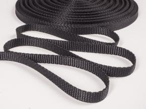 10мм. Стропа 10мм стандарт (пл.5,5гр) черный (рул.25м)