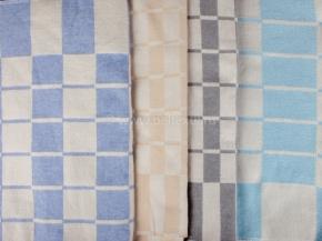 Одеяло байковое 140*205  клетка цвет в ассортименте