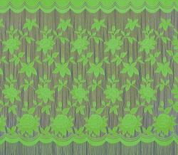 22С14-Г10 рис. 2063 Занавеска 250*250 см цвет салатовый