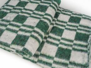 Одеяло хлопковое 140*205 клетка Колосок цв. зеленый