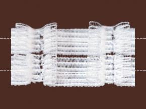 5910 ТЕСЬМА ДЛЯ ШТОР белый 40мм, бантовая сборка 1:2,3 (рул.50м)