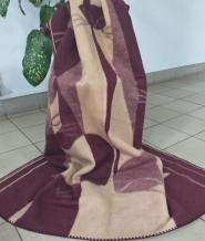 """Одеяло шерсть мериноса 100% 140*205 """"Кошки"""" цвет бежевый"""