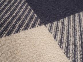Плед НЗ 100% шерсть цвет 5,1 черный с бежевым, размер 140*200