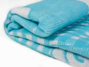 Одеяло хлопковое 100*140 жаккард  цв. бирюза
