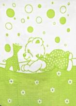 Одеяло хлопковое 100*118 жаккард цвет салатовый