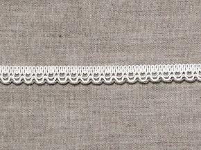 6993 ТЕСЬМА ОТДЕЛОЧНАЯ белый со льном 12мм (рул.50м)