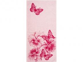 """6с104.411ж1 """"Бабочки и цветы"""" Полотенце махровое 67х40см"""