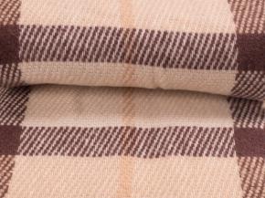 Плед п/шерсть 170*200 41.17 / 41.18 цвет бежево-коричневый