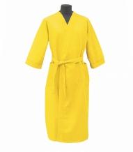 Халат вафельный женский р-р 50 цвет желтый