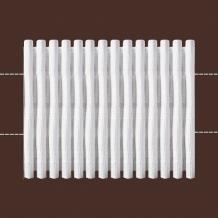 62мм. 8135 ЛЕНТА ДЛЯ ШТОР белый 62мм, параллельная сборка 1:4 (рул.50м)