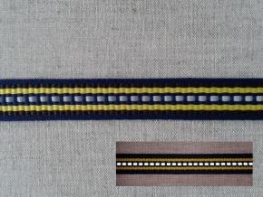 10С3616-Г50 ЛЕНТА ОТДЕЛОЧНАЯ синий с жёлтым/1-полоска СВ, 15мм (рул.25м)
