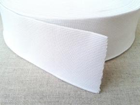 50мм. Резинка ткацкая 50мм, белая (рул.20м)