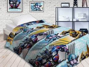 Покрывало Непоседа Transformers Автоботы 145х200 хлопок 100%- бязь стеганое мультиколор