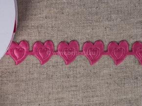 095030305 Лента декоративная шир.20мм, сердце яр.розовый (уп.25ярдов/22,86м)
