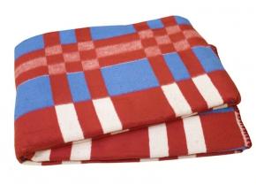 Одеяло хлопковое 140*205 клетка 10/16 цвет красный