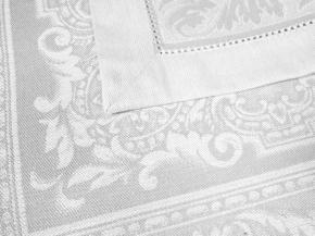 """01с-44ЯК Салфетка 45*45 """"Акантус"""" цв. белый (упаковками по 6 шт)"""