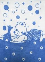 Одеяло хлопковое 100*140 жаккард 7/2 цвет синий