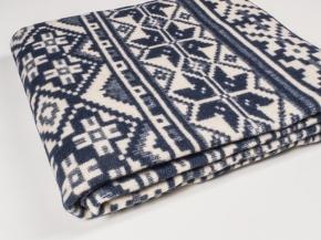 Одеяло п/шерсть 85% 170*205 жаккард  цв 4 темно-серый