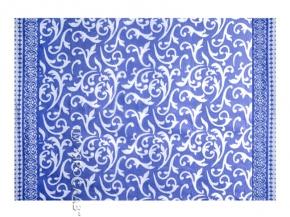 """Одеяло п/шерсть 50% 140*205 жаккард """"Вензель"""" цвет синий"""