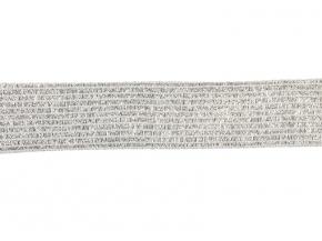 6240 ТЕСЬМА ВЯЗ.ОТДЕЛОЧНАЯ серебро 18мм (рул.100м)