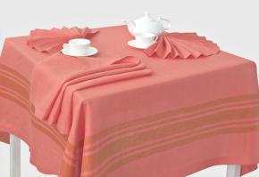 15с367-ШР/уп.150х150 Комплект столовый цвет 1191 розовый с бежевым