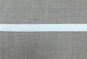 6651 ШНУР 100% хлопок, белый 10мм (рул.100м)
