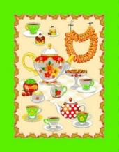 """Полотенце вафельное """"Чай"""" цвет зеленый 45*60 купон"""