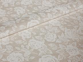 Ткань бельевая арт 2-21 п/лен рис. Белые розы, 150см