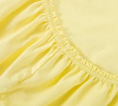 Простыня трикотажная на резинке 60*120*20 цвет желтый