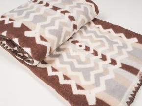 Одеяло хлопковое 140*205 жаккард  2 цв. серый с коричневым