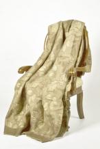 Одеяло п/шерсть 50% 140*205 жаккард Листья цвет бежевый