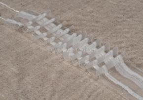 ЛЕНТА ДЛЯ ШТОР белый 30мм, параллельная сборка 1:2 (рул.50м)