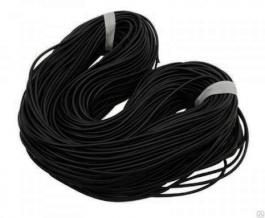 Шнур шляпный 3 мм черный (рул.100 м)