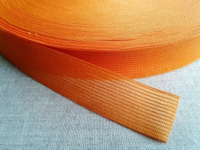 Тесьма вязан.окантовочная 22мм (2,4гр/м), оранжевый (рул.100м)