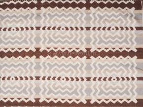 Одеяло хлопковое 170*205 жаккард  2  цв. серый с коричневым