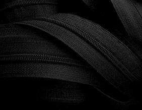 Молния витая рулонная Т3, черный (рул.400м)