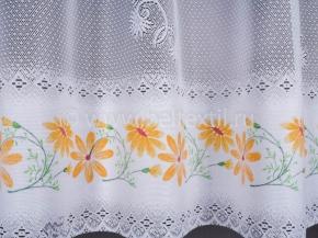0.85м 08С6269-Г50 ПОЛОТНО ГАРДИННОЕ желтый цветок