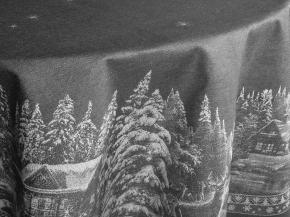 07с24- ЯК Скатерть D-178 Рождество в городе цвет серый