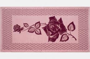 """6с102.411ж1 """"Роза на сетке"""" Полотенце махровое 67х150см"""