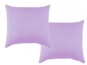 Набор наволочек трикотажных (2 шт.) 70*70 цв. лиловый