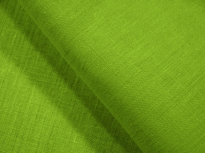 Ткань костюмная 176003 лен гладкокрашеный каландр цвет 195 салат, ширина 150см