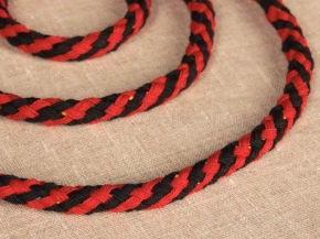 ШХ8-010-7/12 Шнур, D-10мм, х/б 100%, красный/черный