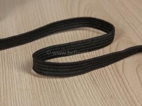 .8мм. Резинка вязаная 8мм, черный (рул.100м)