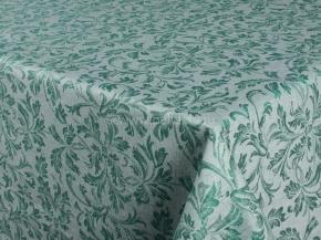 Ткань скатертная арт 07С-14ЯК п/лен жакк. рис.369 Перепев зеленый, 158см