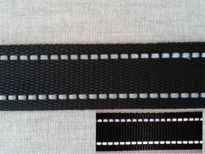 9363 ЛЕНТА ОТДЕЛОЧНАЯ черный/2-полоски СВ, 30мм