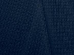 15с169/150/1 полотно ваф. гл/кр крупная клетка 7*7 мм  ш- 150 см  230г/м2 т. синий 04