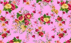 """Полотенце вафельное 40*75 """"Цветы"""" цвет розовый"""